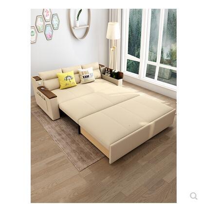 可折疊實木沙發床兩用儲物客廳小戶型雙人懶人多功能乳膠1.5 WJ米家