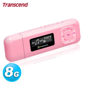 Transcend 創見 MP330 MP3 隨身聽 8GB 粉