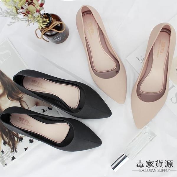 尖頭雨鞋女時尚水鞋雨靴防水防滑短筒淺口膠鞋【毒家貨源】
