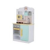 《廠商直送》Teamson 小廚師 木製廚房玩具-薄荷綠 (中) 1入 加贈11件鍋具組 限宅配/無貨到付款