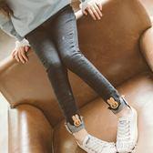 女童牛仔褲兒童女裝韓版洋氣加絨長褲女童褲潮童 歐韓時代