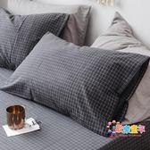 綠意軒棉質水洗棉枕頭套單人枕用枕芯套成人大號女全棉枕套一對裝