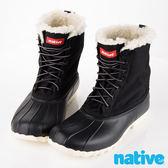 native JIMMY WINTER 超輕量內裡鋪棉高筒獵鴨靴-黑(男/女)