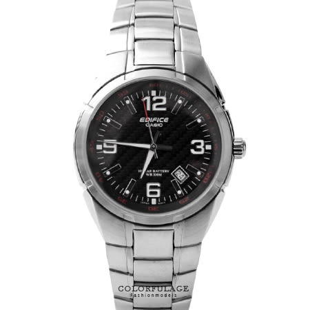 EDIFICE系列 時尚高品味編織鏡面不銹鋼腕錶 沉穩黑色 柒彩年代【NE1450】防水100米