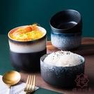 米飯碗家用日式小碗創意陶瓷飯碗甜品碗可愛【櫻田川島】