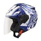 【東門城】ASTONE RST AQ7 (平光藍/白) 3/4 半罩式安全帽