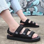 男士涼鞋 兩用羅馬沙灘鞋防滑涼拖鞋透氣休閒情侶一字拖 巴黎春天
