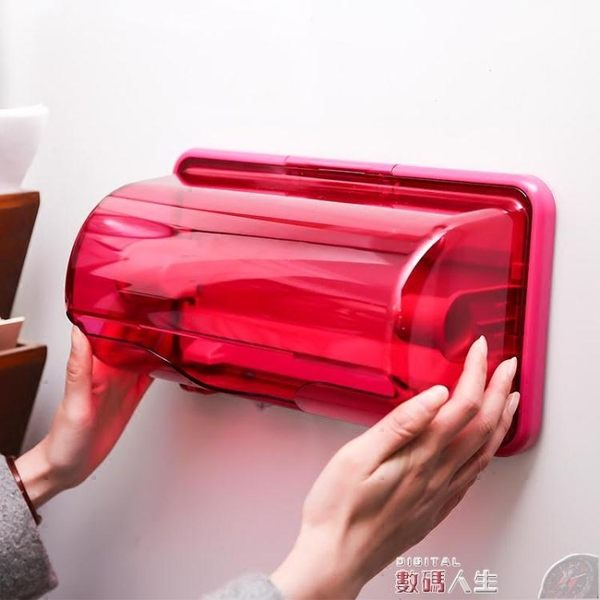 紙巾架日本進口inomata磁石冰箱紙巾架廚房捲紙紙巾盒保鮮膜收納置物架 數碼人生
