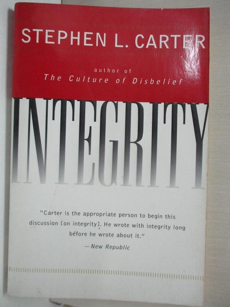 【書寶二手書T7/原文小說_DAN】Integrity_Carter, Stephen L.