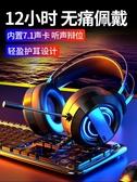 渥贏Q9電腦耳機頭戴式耳麥電競游戲吃雞台式機筆記本帶麥克風有線 陽光好物