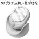 360度LED旋轉人體感應燈 (白光)