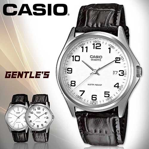 CASIO手錶專賣店 卡西歐  MTP-1183E-7B  男錶 白面數字 礦物玻璃 日常生活防水 真皮錶帶