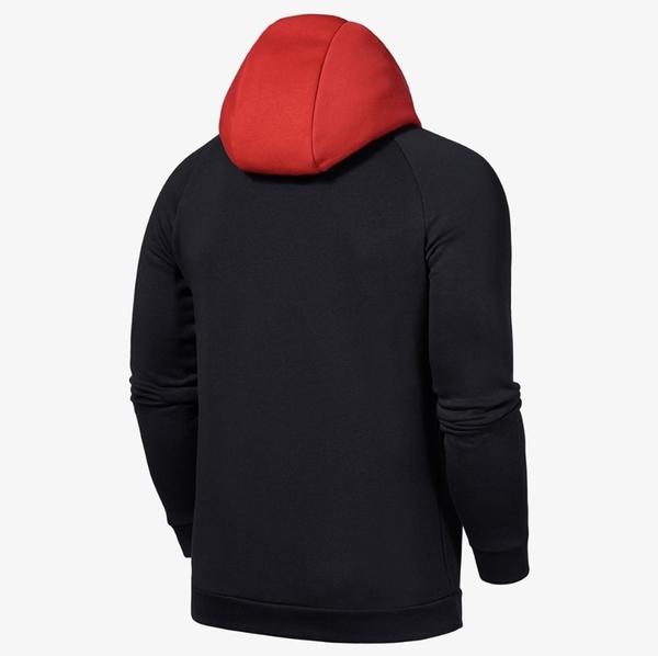 NIKE AIR JORDAN 黑紅 連帽T 飛人LOGO 帽T 男(布魯克林) CU1556-011