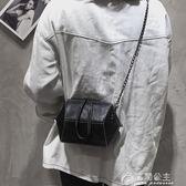 女包錬條包包女新款潮港風復古百搭韓版手提包單肩斜背包花間公主