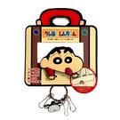 【日本正版】蠟筆小新 夾式鑰匙圈 造型鑰匙圈 鑰匙圈 野原新之助 - 047561