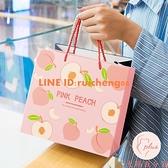 禮品袋手提紙袋子創意生日禮物女裝購物袋簡約清新【大碼百分百】