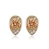 耳環 玫瑰金 925純銀鑲鑽-精緻迷人生日情人節禮物女飾品73gs106【時尚巴黎】