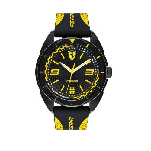 FERRARI 輪胎紋橡膠時尚腕錶