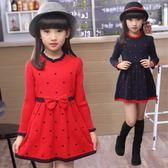 5秋裝4女童公主連衣裙子6兒童裝7女孩8針織裙9秋天3-12歲10秋冬款
