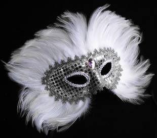 黑色羽毛面具
