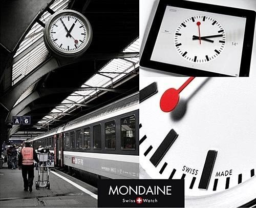 3cm Big Date 鋼鍊女錶 Mondaine 瑞士國鐵錶