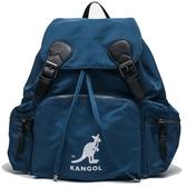 KANGOL 土耳其藍 旅行包 後背包 拉鍊 抽繩 素色  (買送保溫杯) (布魯克林) 6955320182