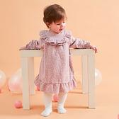 公主系小花背扣式連身裙 童裝 裙子 洋裝