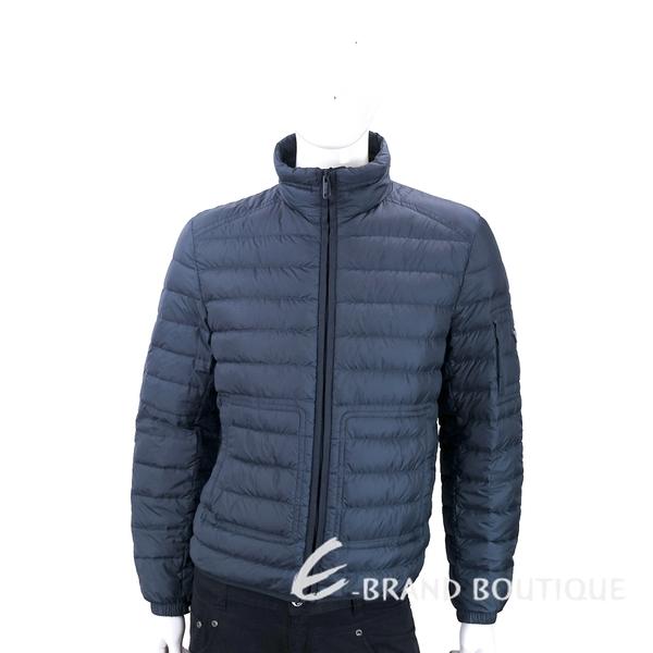 PRADA 三角牌撞色內裡深藍色絎縫羽絨外套(男款) 1830052-34