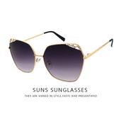 歐美精品墨鏡 時尚太陽眼鏡 簍空不規則鑲鑽超高品質 抗紫外線UV400