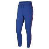 Nike 長褲 As W Nsw Pant Logo Tape 藍 紅 女款 串標 運動休閒 【PUMP306】 AR3075-438