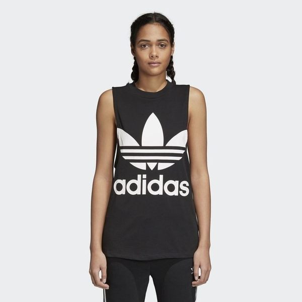 ▲adidas Originals 黑色 logo 黑白 運動背心 無袖背心 女款 許路兒款 CE5578