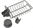 【麗室衛浴】花灑桿淋浴柱.滑桿組 專用肥皂網 平台網架含扣環