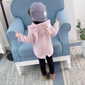 外套—女寶寶秋冬款外套新款洋氣連帽鹿皮絨上衣女小童韓版加絨風衣 依夏嚴選