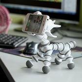 創意桌面小狗小牛手機支架蘋果華為通用卡通