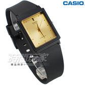 CASIO卡西歐 MQ-38-9A 撞色簡約方錶 橡膠錶帶 黑x金色 MQ-38-9ADF  防水手錶 指針錶 兒童 女錶