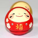 福不倒翁 有鑲小鑽 素燒陶器 日本正版...