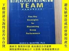 二手書博民逛書店THE罕見MANAGEMENT TEAMY171144 HANDBOOK MARIE G. MCINTYRE
