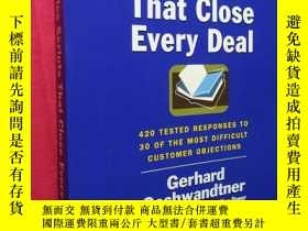二手書博民逛書店Sales罕見Scripts That Close Every