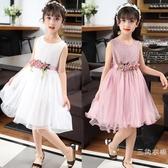 洋裝童裝女童夏裝2019新款公主裙夏季裝無袖女中童純棉女孩洋裝子