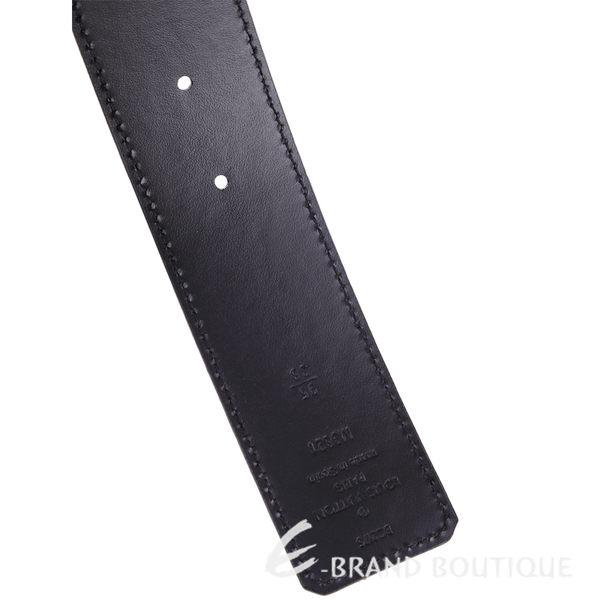 LV M9821 MONOGRAM 品牌字母釦雙面皮帶(咖啡色) 1530142-07