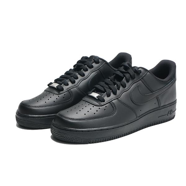NIKE 休閒鞋 AF1 AIR FORCE 1 07 全黑 基本款 經典款 男 (布魯克林) CW2288-001