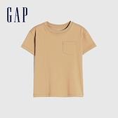 Gap男幼童 純棉舒適圓領短袖T恤 906454-駝色