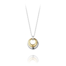 Georg Jensen Jewellery Curve Pendant 喬治傑生 曲線漣漪 18K金 純銀項鍊 『加贈 拭銀布兩份』