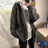 針織衫開衫毛衣外套男韓版潮流寬松慵懶風毛衫【英賽德3C數碼館】