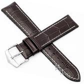 【台南 時代鐘錶 海奕施 HIRSCH】小牛皮錶帶 橡膠芯 George L 深棕色 附工具 0925128010 複合式性能