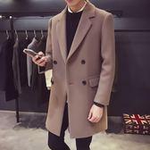 男風衣2019新款秋冬季男士毛呢大衣韓版潮流中長款英倫風呢子外套