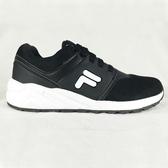 FILA 女款黑色輕量運動鞋-NO.5J315T001