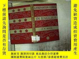 二手書博民逛書店A罕見FOUNDATION COURSE IN ENGLISG