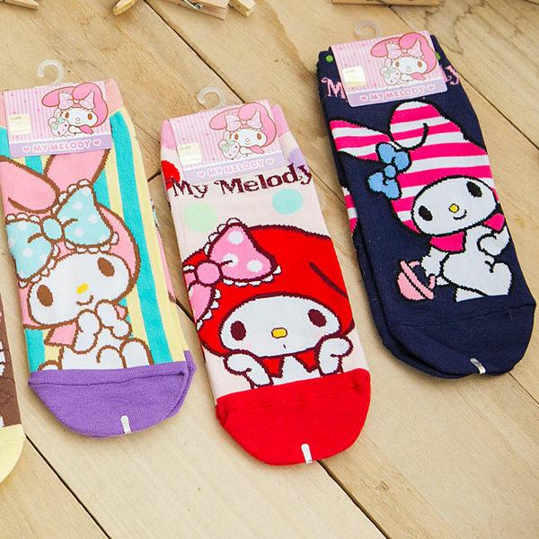 iae創百市集:美樂蒂 Melody 大圖隱形襪 大人款 短襪 船襪 襪子 韓國製造