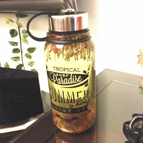 創意玻璃杯大容量透明水杯帶蓋過濾男耐熱茶杯單層便攜杯子1000ml 免運直出 聖誕交換禮物